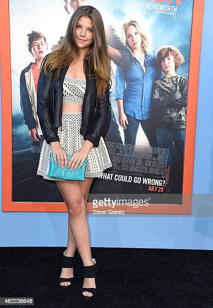 Catherine Missal arrives at the Premiere Of Warner Bros Vacation at Regency Village Theatre on July 27 2015 in Westwood California