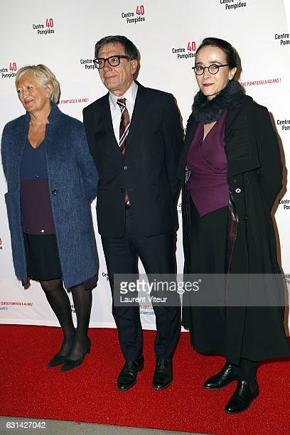 Catherine MorinDessailly Serge Lasvignes and Delphine Ernotte attends Centre Georges Pompidou 40th Anniversary at Centre Pompidou on January 10 2017...