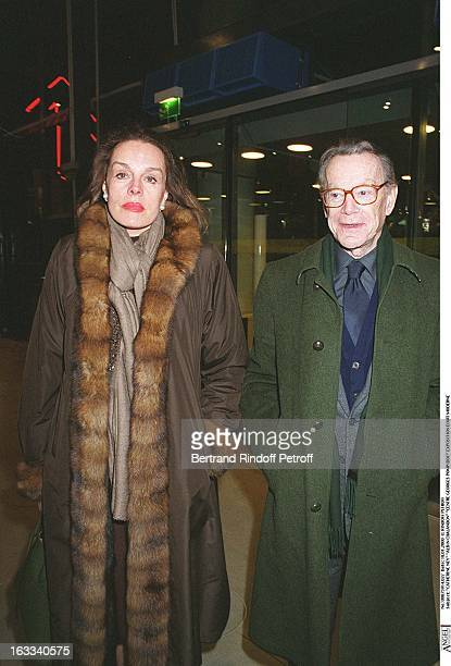 Catherine Ney 'Albin Chalandon at theExhibition Of Modern Art At The Georges Pompidou Centre In Paris