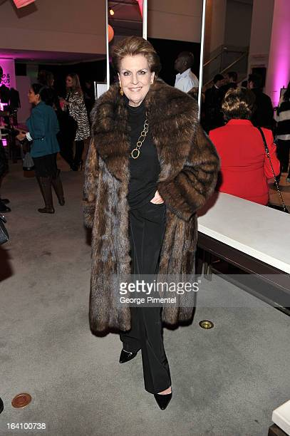 Catherine Nugent attends the Holt Renfrew opening night party on March 18 2013 in Toronto Canada