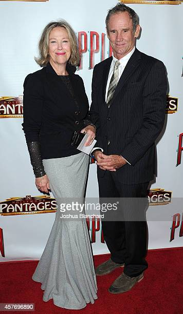 Catherine O' Hara and Bo Welch arrive at the opening night of Pippin at the Pantages Theatre on October 22 2014 in Hollywood California