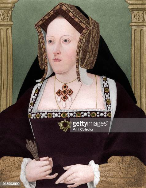 Catherine of Aragon', c1515, . Catherine, was queen consort of England as Henry VIII of England's first wife. Henry tried to have their twenty-four...