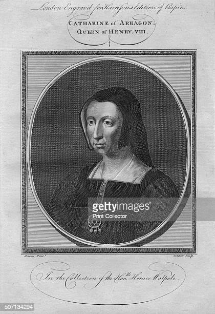 Catherine of Aragon Queen of Henry VIII 1784 From Harrison's Edition of Rapin's History of England by Paul Rapin de Thoyras [John Harrison London...
