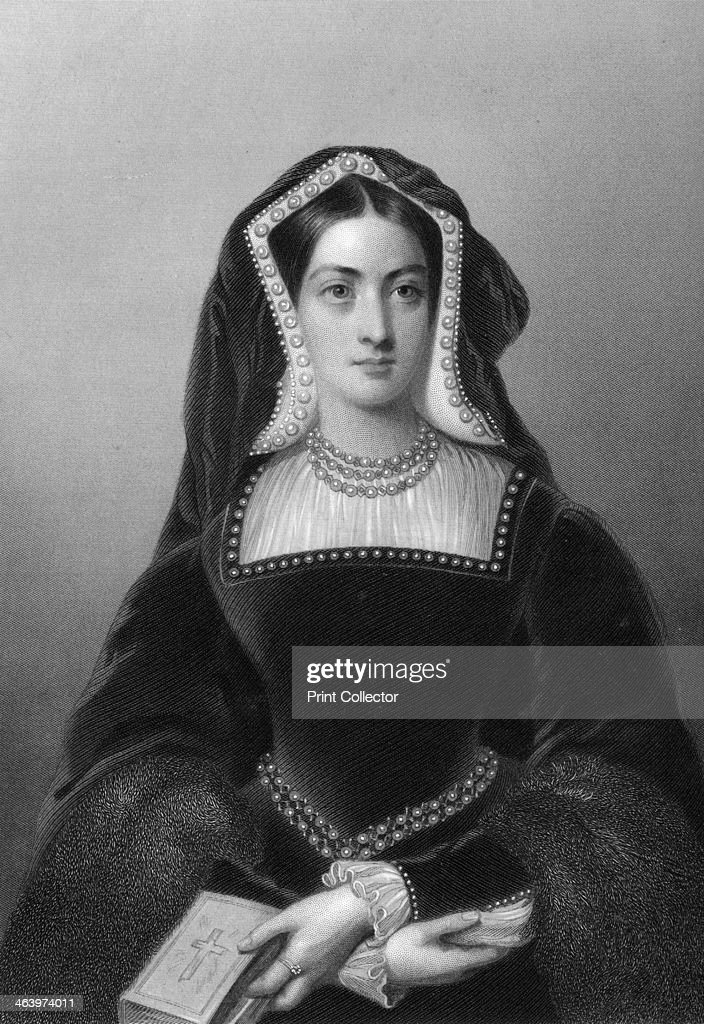 Catherine of Aragon (1485-1536), the first wife of King Henry VIII, 1851.Artist: JW Knight : News Photo