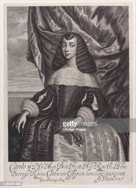 Catherine of Braganza, 1662. Artist William Faithorne.