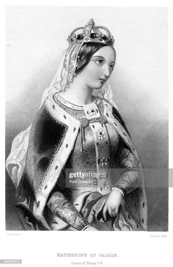 Catherine of Valois (1401-1437), queen consort of King Henry V, 19th century.Artist: Francis Holl : News Photo
