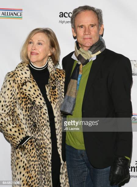 Catherine O'Hara and Bo Welch attend the 12th Annual Oscar Wilde Awards at Bad Robot on February 23 2017 in Santa Monica California