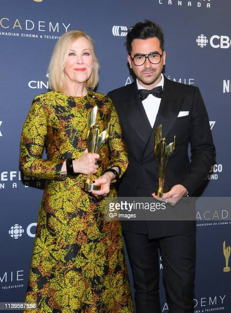 Catherine O'Hara and Dan Levy at the 2019 Canadian Screen Awards Broadcast Gala held at Sony Centre for the Performing Arts on March 31 2019 in...
