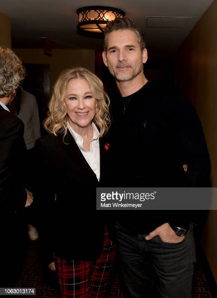 Catherine O'Hara and Eric Bana attend Vulture Festival presented by ATT at Hollywood Roosevelt Hotel on November 17 2018 in Hollywood California