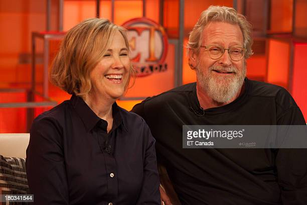 Catherine O'Hara and Jeremiah Chechik visit the ET Canada Festival Central Lounge at the 2013 Toronto International Film Festival on September 11...