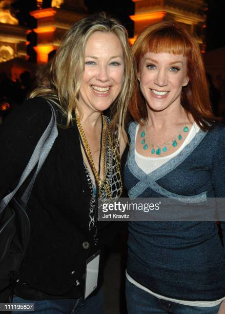 Catherine O'Hara and Kathy Griffin during HBO AEG Live's 'The Comedy Festival' Comic Relief 2006 After Party at Caesars Palace in Las Vegas Nevada...