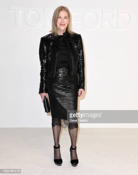 Catherine O'Hara arrives at the Tom Ford AW20 Show at Milk Studios on February 07, 2020 in Hollywood, California.