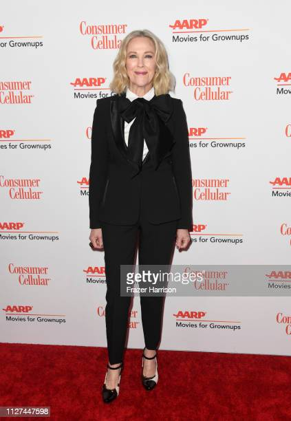 Catherine O'Hara attends the 18th Annual AARP The Magazine's Movies For Grownups Awards at the Beverly Wilshire Four Seasons Hotel on February 04...