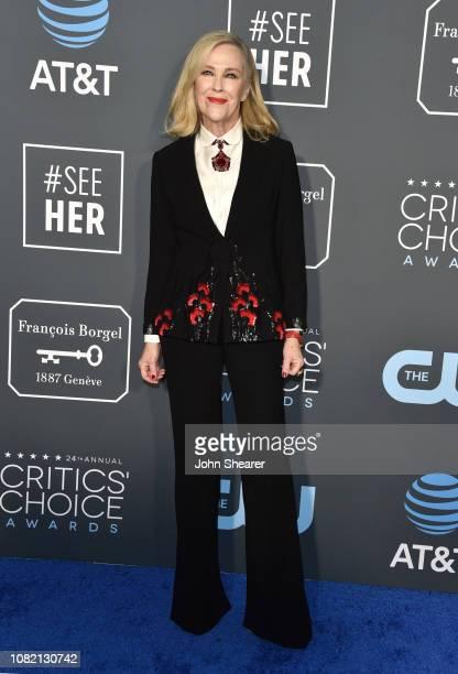 Catherine O'Hara attends The 24th Annual Critics' Choice Awards at Barker Hangar on January 13 2019 in Santa Monica California