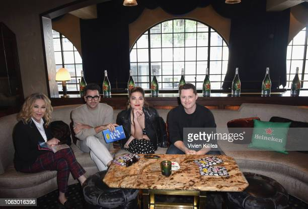 Catherine O'Hara Dan Levy Annie Murphy and Noah Reid attend the Heineken Green Room during Vulture Festival presented by ATT at Hollywood Roosevelt...