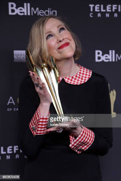 Catherine O'Hara poses in the press room at the 2017 Canadian Screen Awards at Sony Centre For Performing Arts on March 12 2017 in Toronto Canada