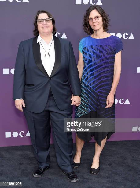 Catherine Opie and Julie Burleigh attend the MOCA Benefit 2019 at The Geffen Contemporary at MOCA on May 18 2019 in Los Angeles California