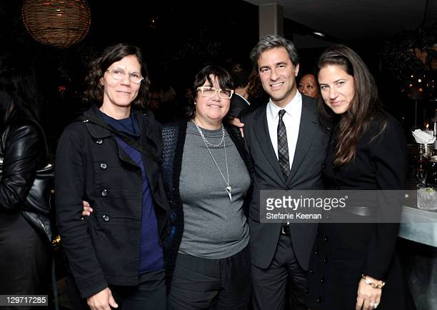 Catherine Opie Michael Govan Julie Burleigh and Katherine Ross attend at Soho House on October 19 2011 in West Hollywood California