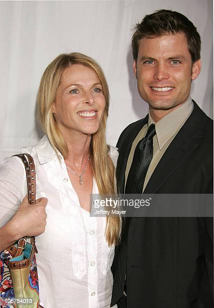 Catherine Oxenberg and Casper Van Dien during MonsterInLaw Los Angeles Premiere Arrivals at Mann National Theatre in Westwood California United States