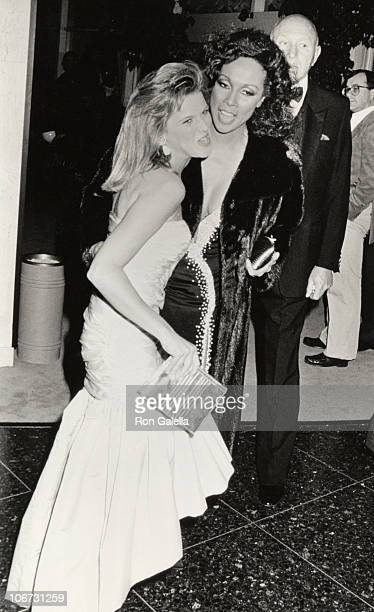 Catherine Oxenberg and Diahann Carrol during 43rd Annual Golden Globe Awards at Beverly Hilton Hotel in Beverly Hills California United States