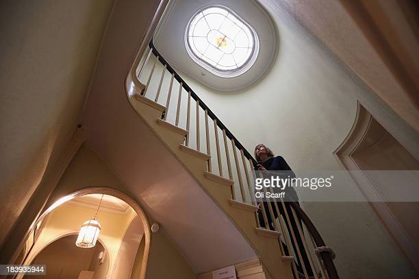 Catherine ParryWingfield the Chair of Turner's House Trust inspects in the interior of Sandycombe Lodge the former home of landscape painter Joseph...