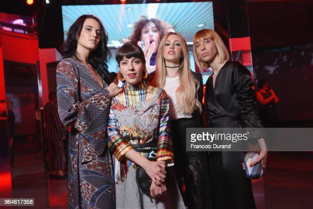 Catherine Poulain and Veronica Giomini and some guests attend the #Ultimune Launch Event on May 31 2018 in Paris France