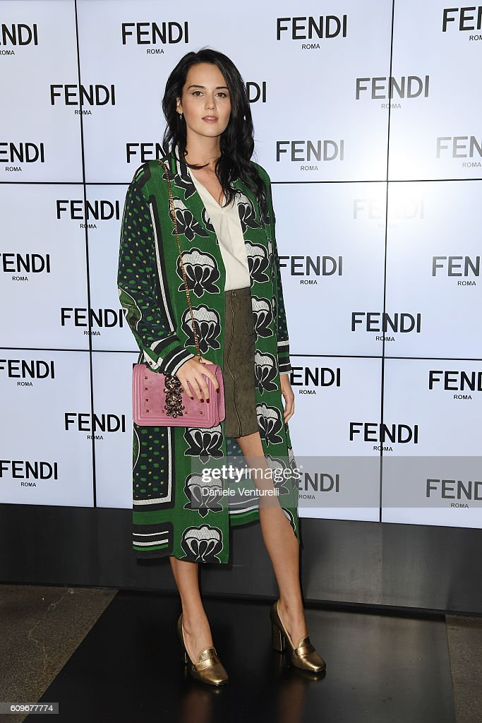 Catherine Poulain attends the Fendi show during Milan Fashion Week Spring/Summer 2017 on September 22, 2016 in Milan, Italy.
