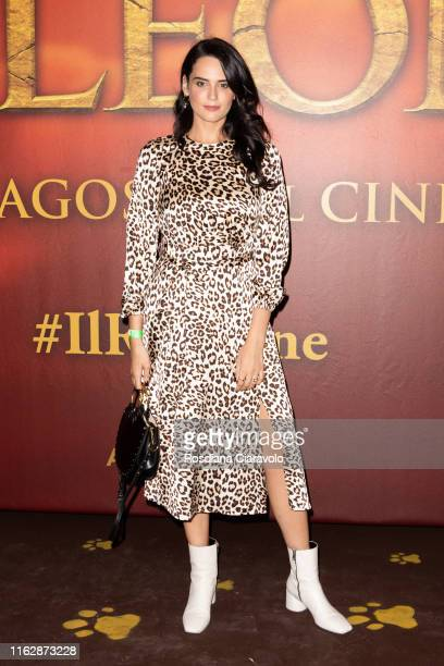 Catherine Poulain attends the red carpet of Il Re Leone at Anteo Spazio Cinema on July 18 2019 in Milan Italy