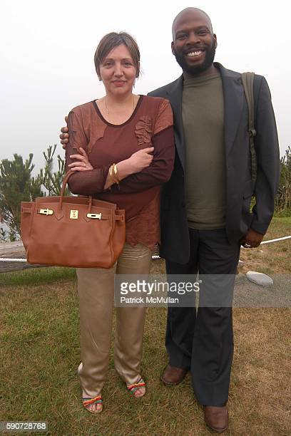 Catherine Quiblier and Jonathan Lewis attend Junko Yoshioka Presents Her Evening Wear Collection at Peter and Nejma Beard Residence on July 16 2005...