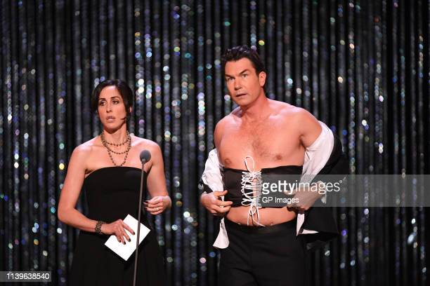 Catherine Reitman and Jerry O'Connell attends the 2019 Canadian Screen Awards Broadcast Gala held at Sony Centre for the Performing Arts on March 31...