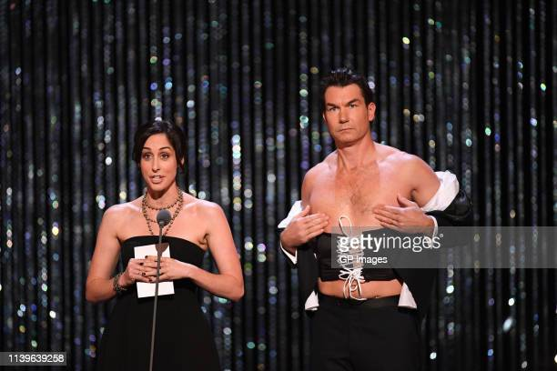 Catherine Reitman and Jerry O'Connell attends the 2019 Canadian Screen Awards Broadcast Gala held at Sony Centre for the Performing Arts on March 31,...