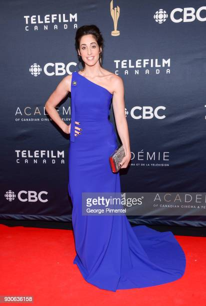 Catherine Reitman arrives at the 2018 Canadian Screen Awards at the Sony Centre for the Performing Arts on March 11 2018 in Toronto Canada