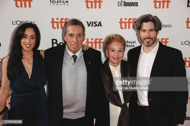 Catherine Reitman Ivan Reitman Genevieve Robert and Jason Reitman attend 'The Front Runner' premiere at Ryerson Theatre on September 8 2018 in...