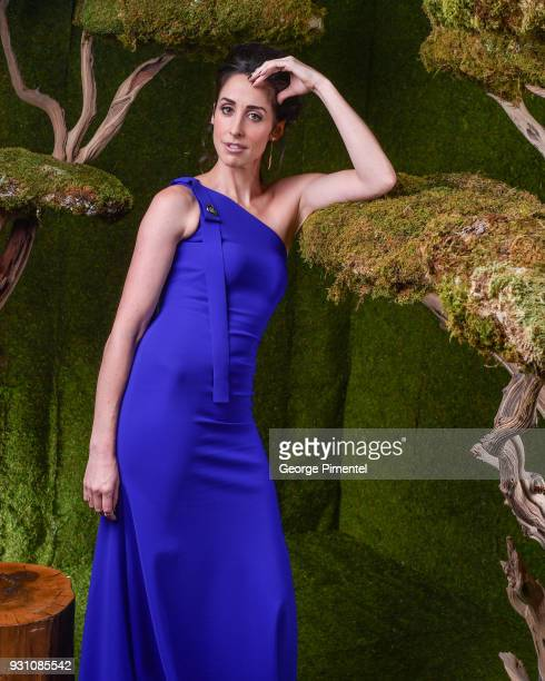 Catherine Reitman poses in the 2018 Canadian Screen Awards Broadcast Gala Portrait Studio at Sony Centre for the Performing Arts on March 11 2018 in...