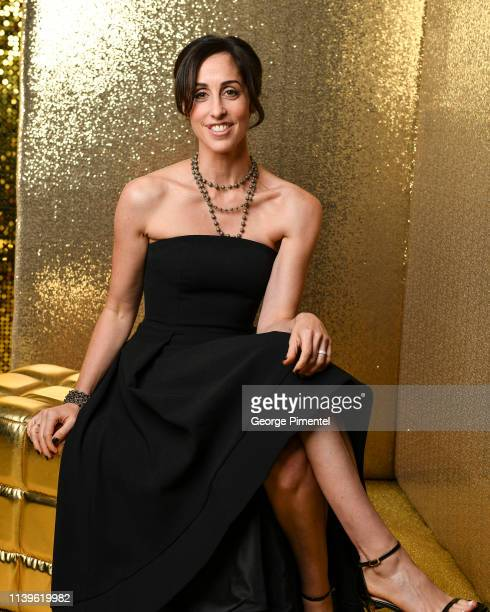Catherine Reitman poses inside the 2019 Canadian Screen Awards Portrait Studio held at Sony Centre for the Performing Arts on March 31 2019 in...