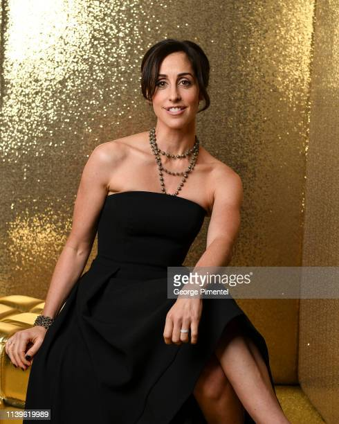 Catherine Reitman poses inside the 2019 Canadian Screen Awards Portrait Studio held at Sony Centre for the Performing Arts on March 31, 2019 in...
