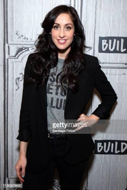 Catherine Reitman visits Build Studio on February 20, 2019 in New York City.