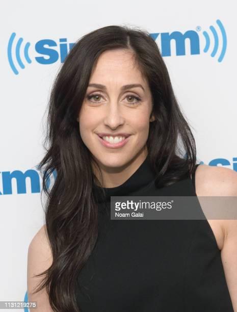 Catherine Reitman visits the SiriusXM Studios on February 21, 2019 in New York City.