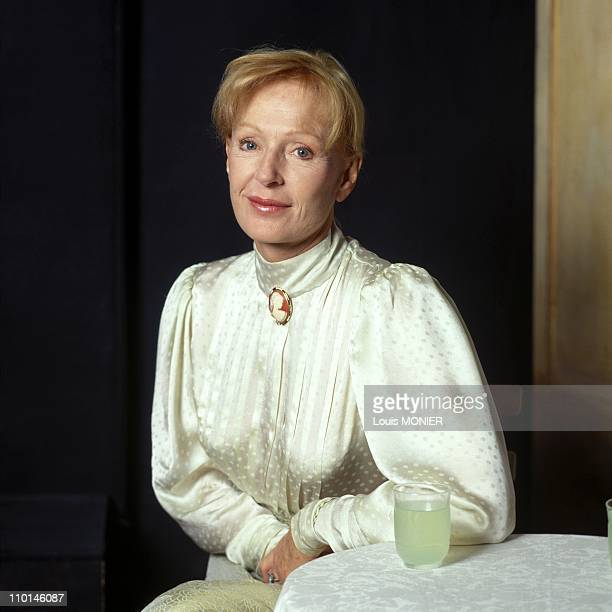 Catherine Rich, actress in France in October, 1993.