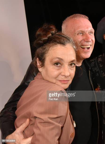 Catherine Ringer and Jean Paul Gaultier attend the JeanPaul Gaultier Haute Couture Fall Winter 2018/2019 show as part of Paris Fashion Week on July 4...