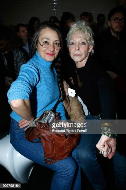 Catherine Ringer and Tonie Marshall attend the JeanPaul Gaultier Haute Couture Spring Summer 2018 show as part of Paris Fashion Week on January 24...