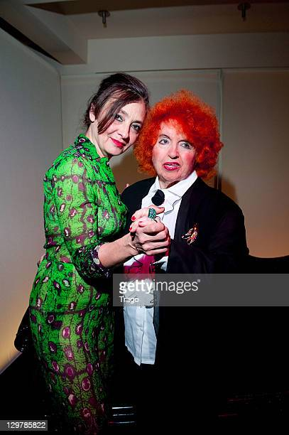 Catherine Ringer and Yvette Horner attend 'De La rue Aux Etoiles' Book Launch at JeanPaul Gaultier's on October 20 2011 in Paris France