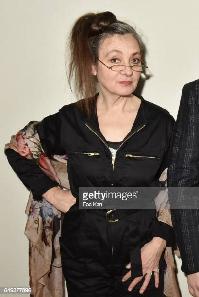 Catherine Ringer from the Rita Mitsouko band attends the Agnes B show as part of the Paris Fashion Week Womenswear Fall/Winter 2017/2018 at Hotel des...