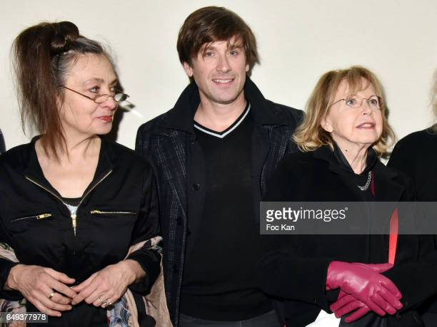 Catherine Ringer from the Rita Mitsouko band, Thomas Dutronc and Bulle Ogier attend the Agnes B show as part of the Paris Fashion Week Womenswear...