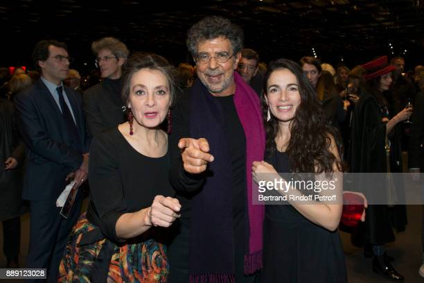 Catherine Ringer Gabriel Yared and Yael Nahim attend 'The Celebration of Gabriel Yared 's Film Music' at Philharmonie De Paris on December 9 2017 in...