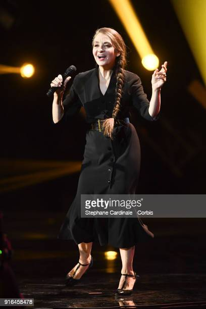 Catherine Ringer performs during the 33rd Les Victoires De La Musique 2018 at La Seine Musicale on February 9 2018 in BoulogneBillancourt France