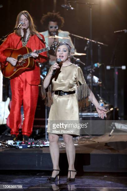 Catherine Ringer performs during the 35th 'Les Victoires De La Musique' Show At La Seine Musicale on February 14 2020 in BoulogneBillancourt France