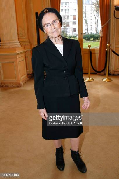 Catherine RobbeGrillet attends the Nina Ricci show as part of the Paris Fashion Week Womenswear Fall/Winter 2018/2019 on March 2 2018 in Paris France