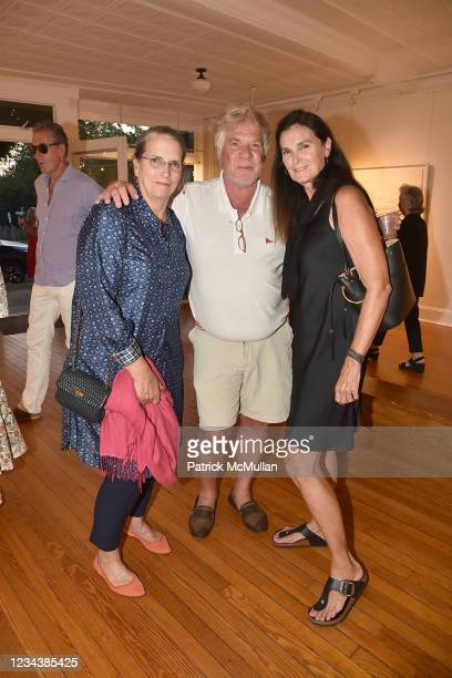 """Catherine Roberts, Olaf Neubert and Diane Marshall attend the release of Christophe von Hohenberg's new book """"The White Album of The Hamptons"""" and..."""