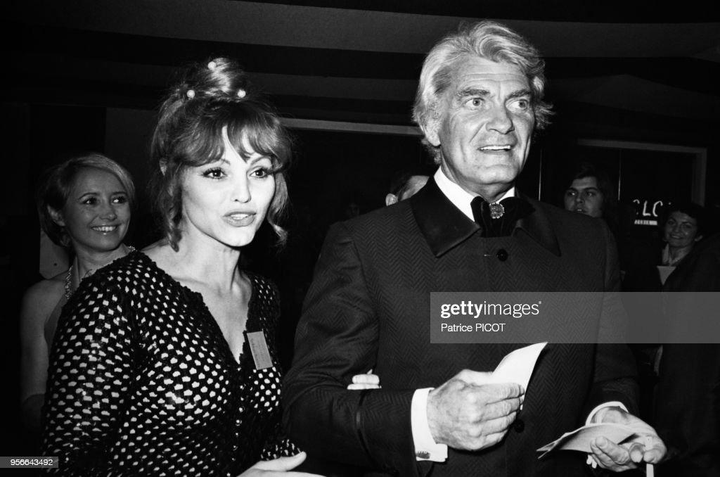 Catherine Rouvel et Jean Marais lors d'un gala en 1973 : Nyhetsfoto